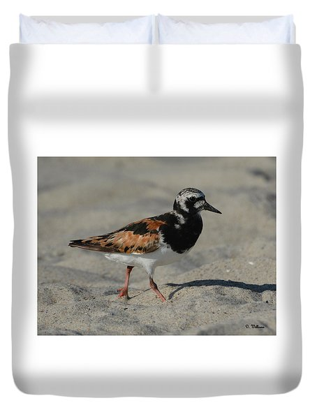 Strolling In The Sand Duvet Cover