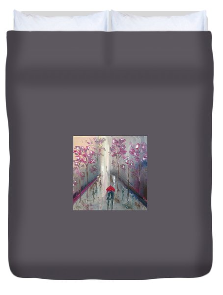 Strolling Duvet Cover by Roxy Rich