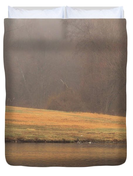Strolling Thru The Park Duvet Cover by Karol Livote