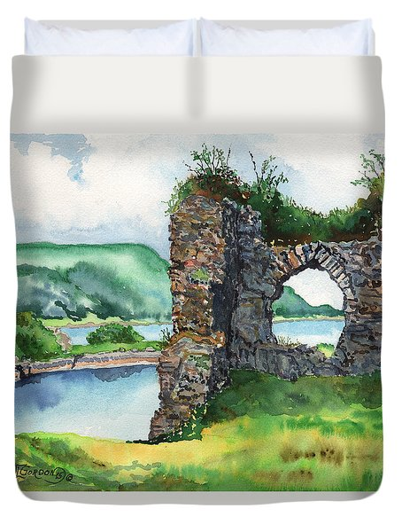Strome Castle Scotland Duvet Cover