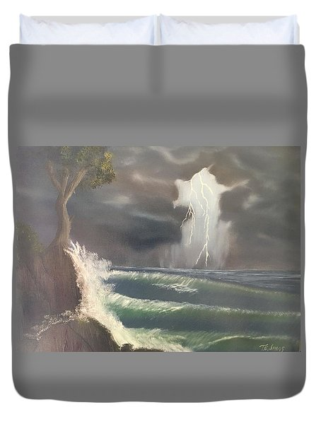 Strong Against The Storm Duvet Cover