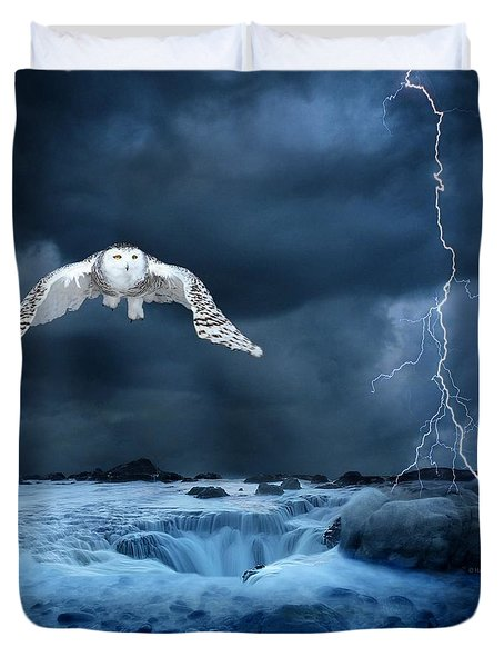 Stronger Than The Storm Duvet Cover by Heather King