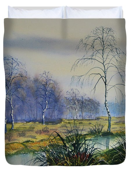 Stream In Flood On Strensall Common Duvet Cover