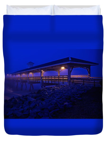Once In A Blue Mood Duvet Cover by Laura Ragland