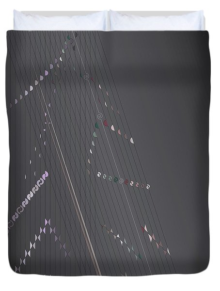 Strung Art Duvet Cover