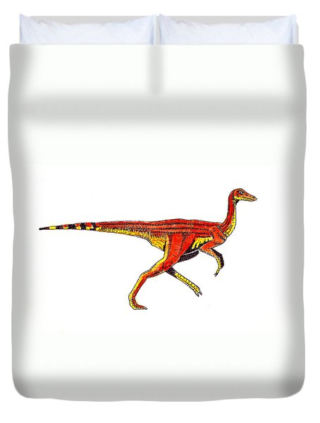 Struthiomimus Duvet Cover by Michael Vigliotti