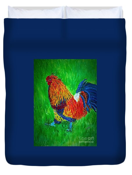 Strutting  Batam Rooster Duvet Cover