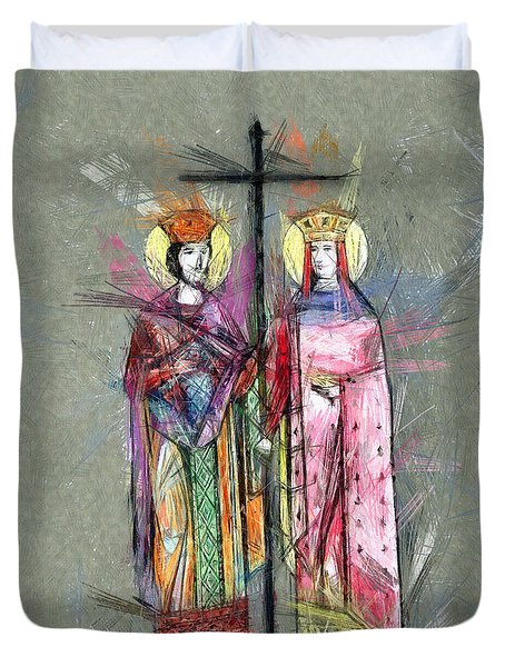 Sts. Constantine And Helen Duvet Cover