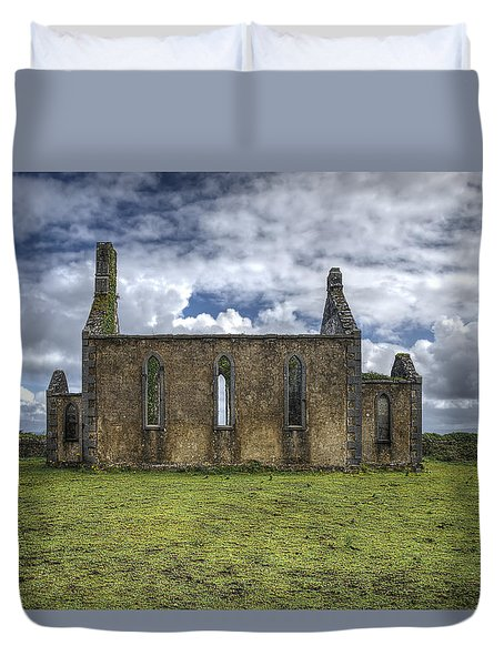 Duvet Cover featuring the photograph Stthomas Church In Aran Islands, Inis Mor by Enrico Pelos