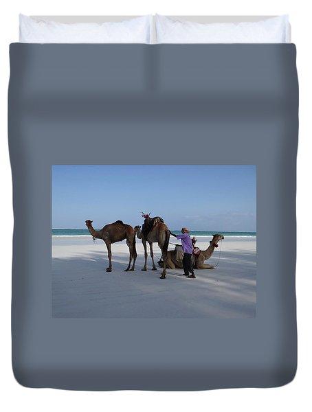 Stubborn Wedding Camels Duvet Cover