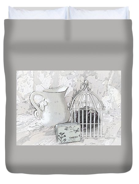 Stuck And All Alone Duvet Cover by Sherry Hallemeier