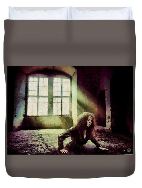 Duvet Cover featuring the digital art Stuck by Gun Legler