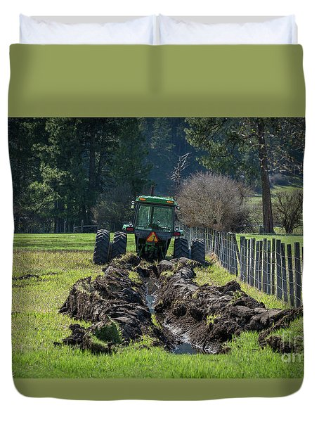 Stuck In The Muck Agriculture Art By Kaylyn Franks Duvet Cover