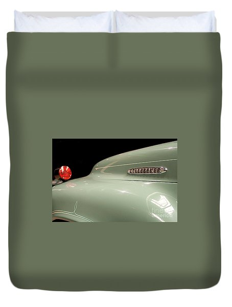 Duvet Cover featuring the photograph Studebaker by Patricia Hofmeester