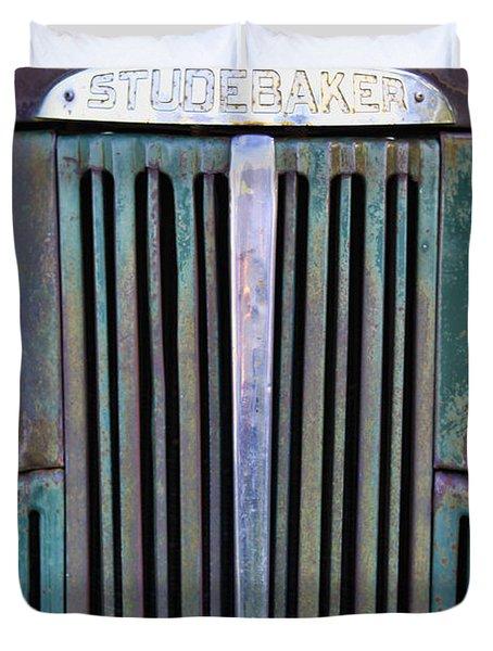 47 Studebaker Pick-up Grill Duvet Cover