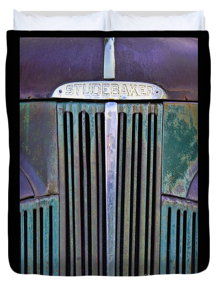 47 Studebaker Pick-up Grill Duvet Cover