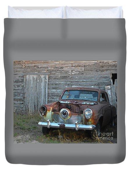 Studebaker Sitting Duvet Cover