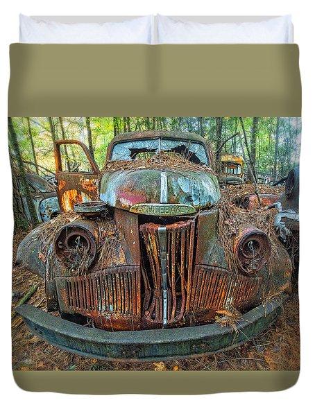 Studebaker With Broken Glass Duvet Cover