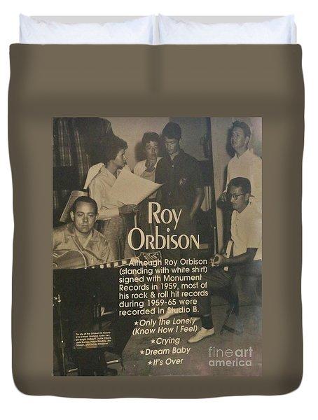 Studio B Roy Orbison  Duvet Cover by Chuck Kuhn