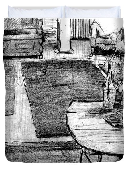 Studio Livingroom Duvet Cover by Al Goldfarb
