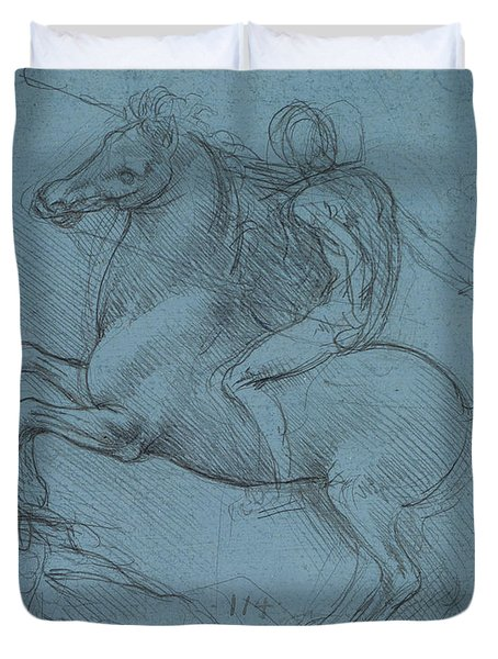 Study For An Equestrian Monument  Duvet Cover