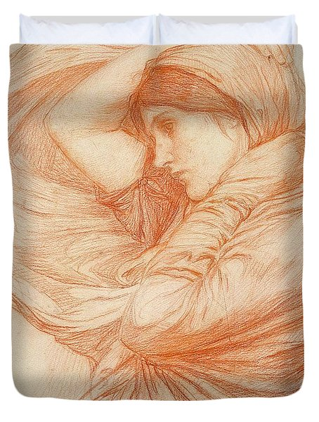 Study For Boreas Duvet Cover by John William Waterhouse