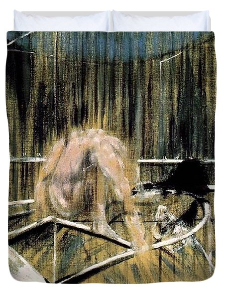 Study For Crouching Nude Duvet Cover by Francis Bacon