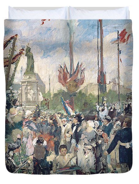 Study For Le 14 Juillet 1880 Duvet Cover by Alfred Roll