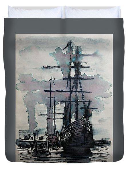 Study For Sailing Vessel Pandora Duvet Cover
