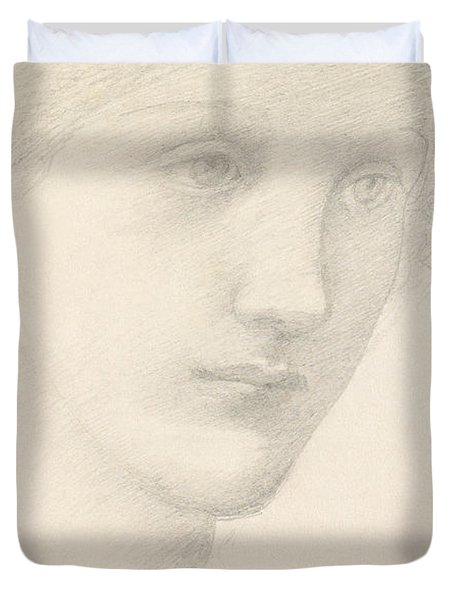 Study For The Venus In The Godhead Fires Duvet Cover