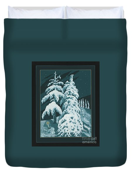 Duvet Cover featuring the painting Study For Winter Trees Of Life 299 by William Hart McNichols