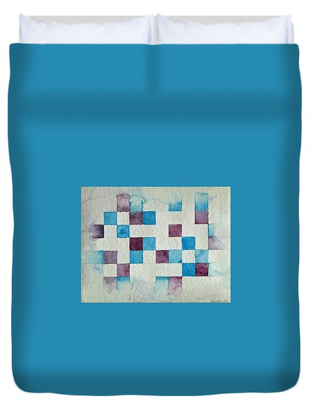 Study In Blue And Violet Duvet Cover