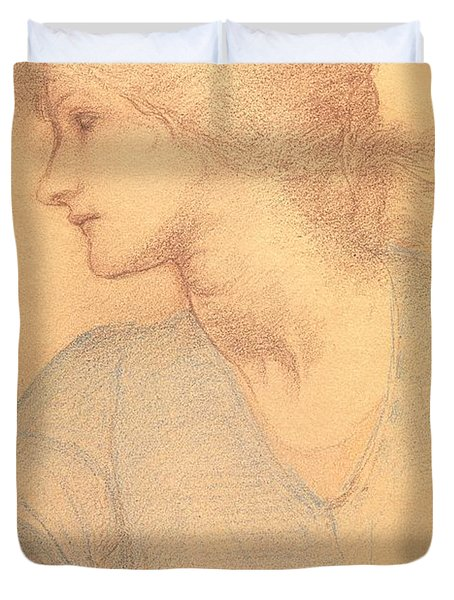 Study In Colored Chalk Duvet Cover by Sir Edward Burne-Jones