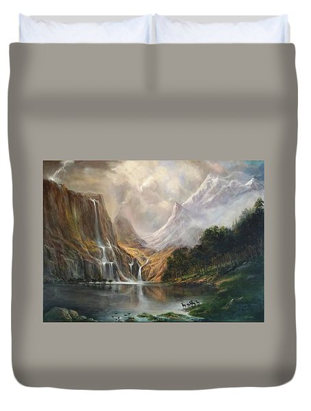 Duvet Cover featuring the painting Study In Nature by Donna Tucker