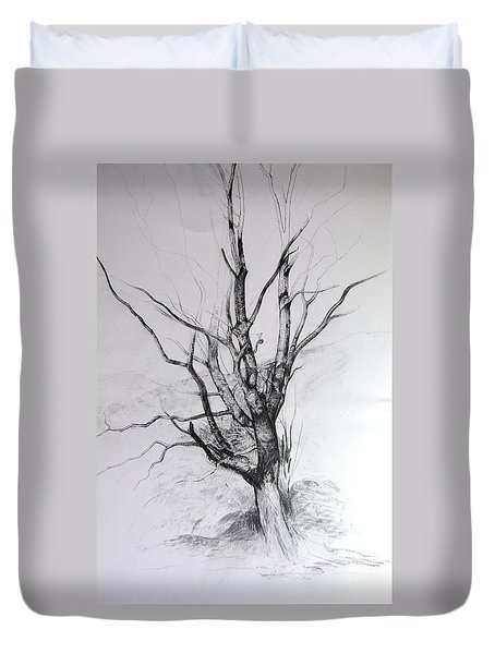 Study Of A Tree Duvet Cover by Harry Robertson