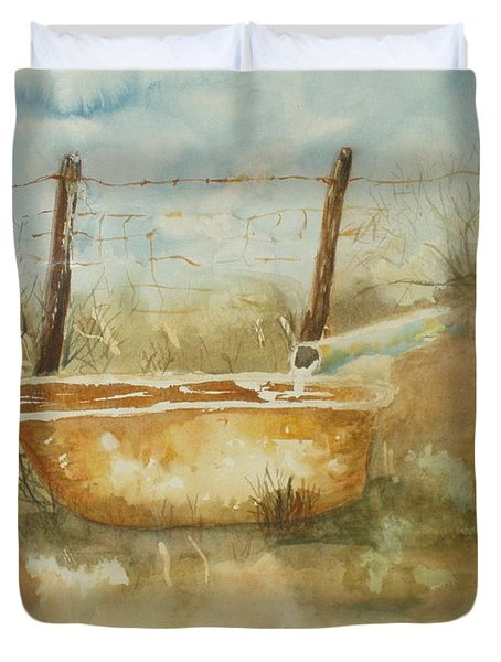 Study Of A Watering Tub Duvet Cover
