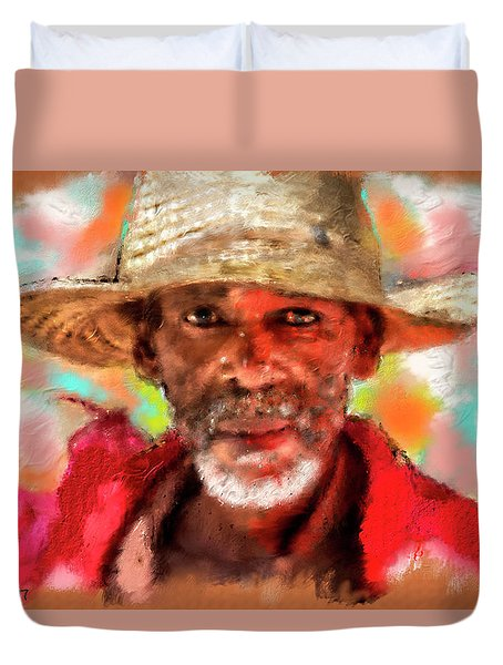 Study Of An Old Man Duvet Cover