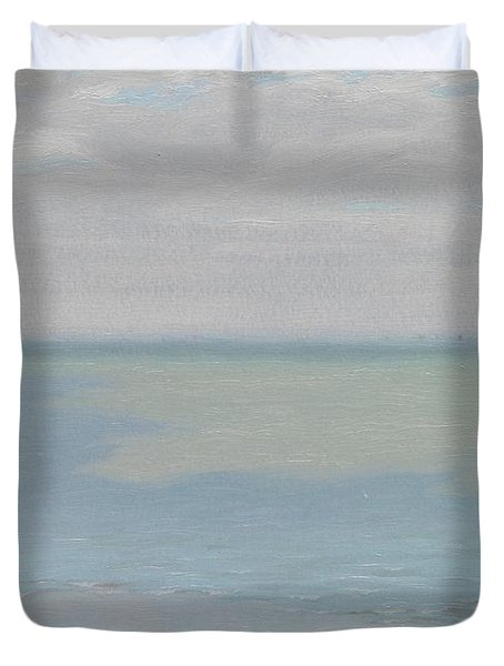 Study Of Sky And Sea Duvet Cover by Herbert Dalziel