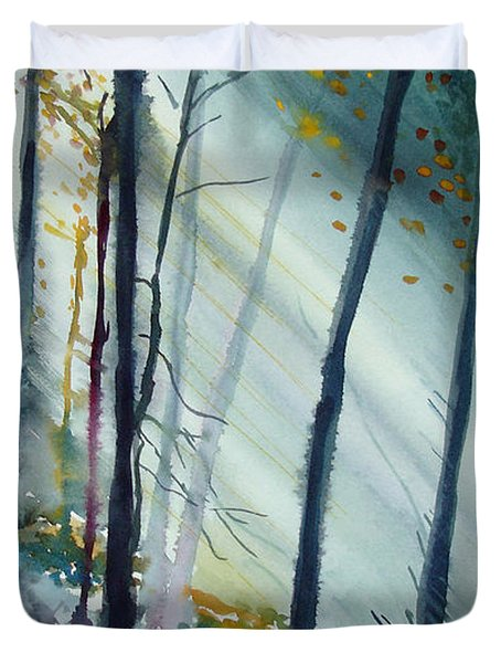 Study The Trees Duvet Cover