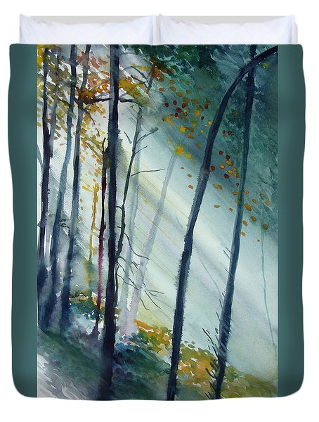 Study The Trees Duvet Cover