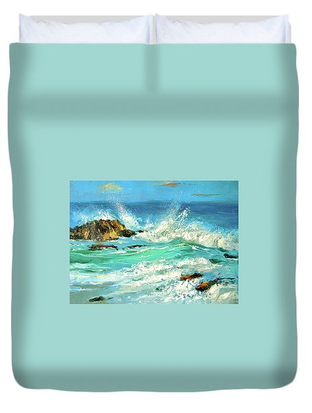 Study Wave Duvet Cover