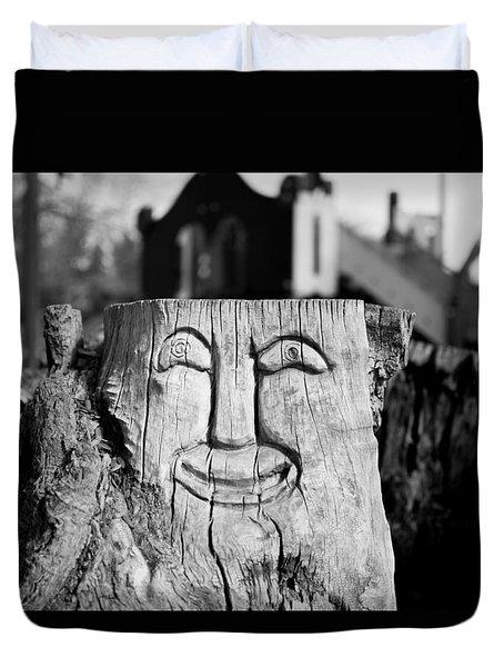 Stump Face 1 Duvet Cover