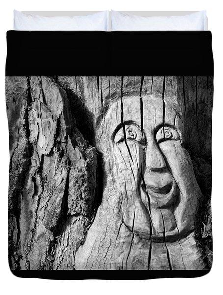 Stump Face 3 Duvet Cover
