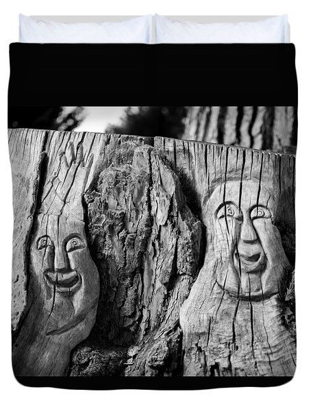 Stump Faces 2 Duvet Cover