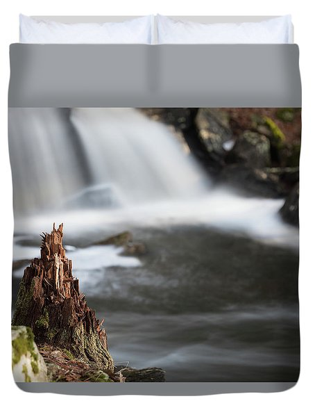 Stumped At The Secret Waterfall Duvet Cover