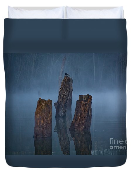 Duvet Cover featuring the photograph Stumped by Douglas Stucky