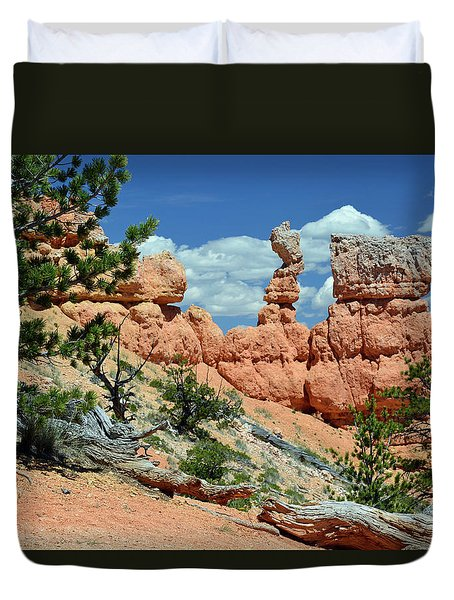 Duvet Cover featuring the photograph Stunning Bryce Canyon National Park Backcountry by Bruce Gourley