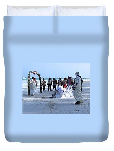 Stunning Kenya Beach Wedding Duvet Cover