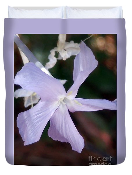 Stunning New Mexico Purple Wildflower Duvet Cover