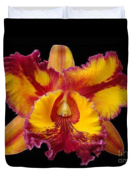 Stunning Orchid Closeup Duvet Cover
